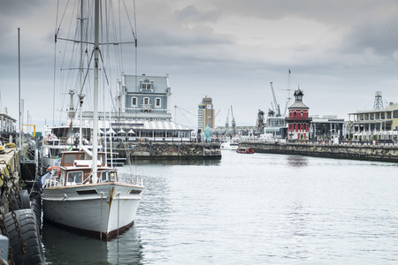 capetown: Waterfront harbor in capetown
