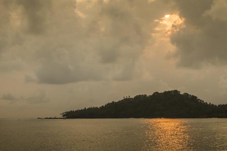 Tropical island of sao tome Stock Photo
