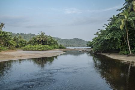Tropical island of são tome africa