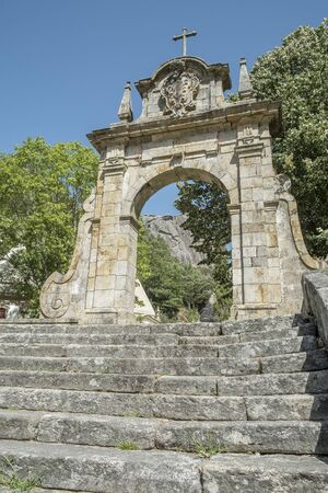 entry in the religious sanctuary Peneda, Portugal