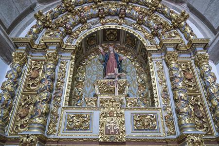 Religious figure in a Portuguese church Stock Photo