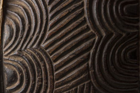 african instrument craved texture Stock Photo