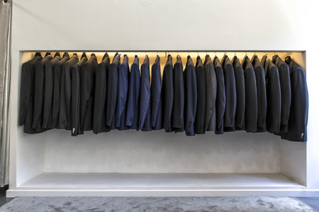 Mens luxury suits Stock Photo