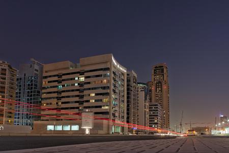 sep: UAEDUBAI - 14 SEP 2012 - light trails on internet city