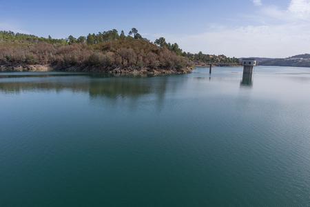 Hydroelectric dam of Castelo de Bode. Portugal