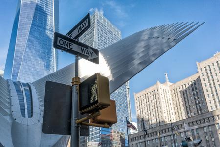 Traffic signs in New York.
