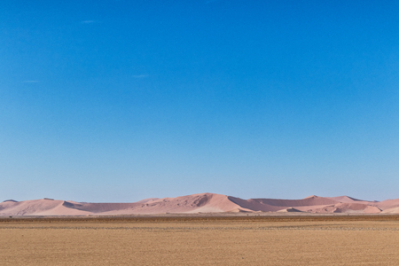Red dunes in the desert of Namibia. Stock Photo