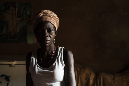 NDALATANDOANGOLA - 27 JUL 2017 - Expressive portrait of African woman.