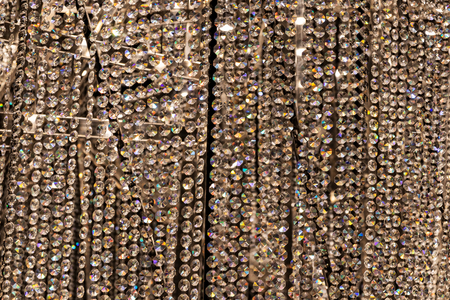 Close up of wall of diamonds. Full frame.