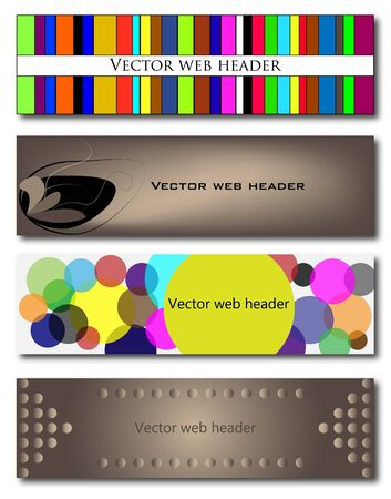 Set of 4 web headers Stock Vector - 11569689