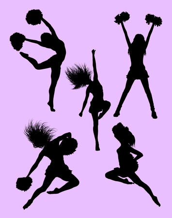 Cheerleader silhouette 05. Good use for symbol, logo, web icon, mascot, sign or any design you want.