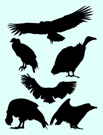Condor bird animal detail silhouette.  Good use for symbol, logo, web icon, mascot, sign, or any design you want.