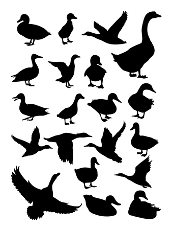 Duck silhouette Stock Illustratie