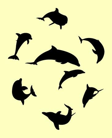 Dolphin silhouette Illustration