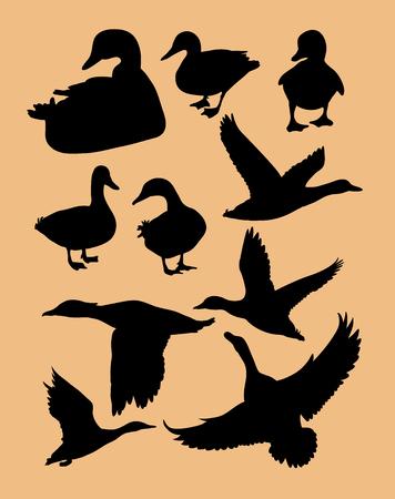 Duck silhouette 向量圖像