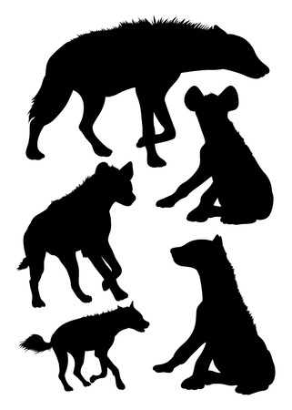 Silhouette of hyena. Good use for symbol, logo, web icon, mascot, sign, or any design you want.