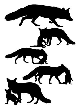 Silhouet van wolven. Goed te gebruiken voor symbool, webpictogram, mascotte, teken of elk gewenst ontwerp.