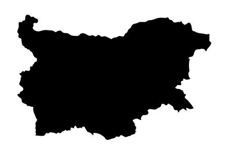 Map of bulgaria silhouette.