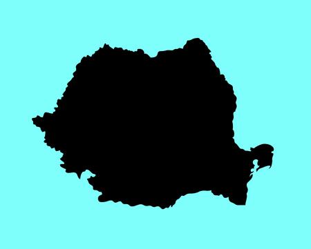 Map of romania silhouette.