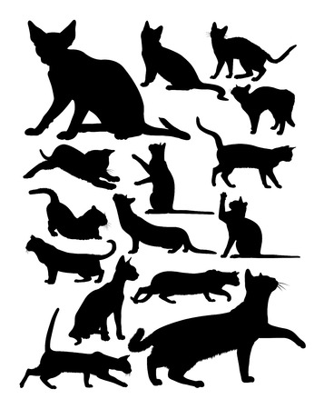 Cat silhouette. Good use for symbol, logo, web icon, mascot, sign, or any design you want.
