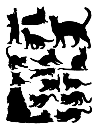 Silhouette of cat. Good use for symbol, logo, web icon, mascot, sign, or any design you want.