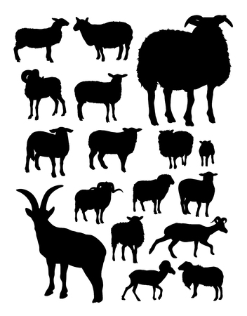 Sheep silhouette. Good use for symbol, logo, web icon, mascot, sign, or any design you want.