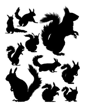 Squirrel silhouette. Good use for symbol, logo, web icon, mascot, sign, or any design you want.