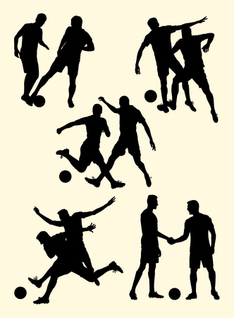 Soccer player silhouette 06. Good use for symbol, logo, web icon, mascot, sign,or any design you want.