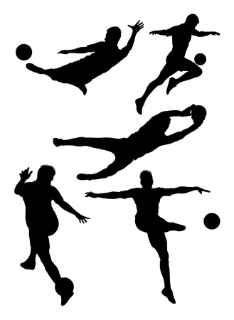 Soccer player silhouette 01. Good use for symbol, logo, web icon, mascot, sign,or any design you want. 矢量图像