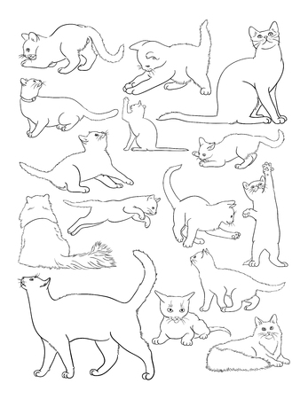 Cat line art. Good use for symbol, logo, web icon, mascot, coloring book, sign,or any design you want. Logo
