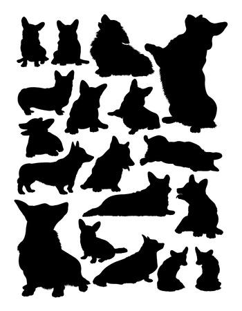 Corgi dog animal silhouette. Good use for symbol, logo, web icon, mascot, sign,or any design you want.