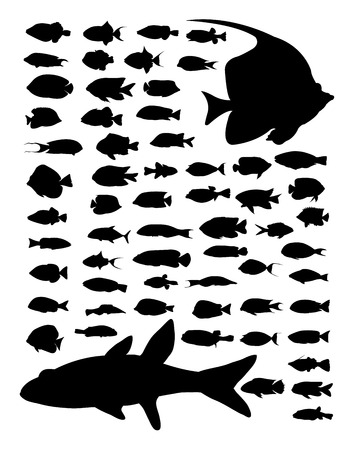 Fish silhouette. Good use for symbol, logo, web icon, mascot, sign, or any design you want.