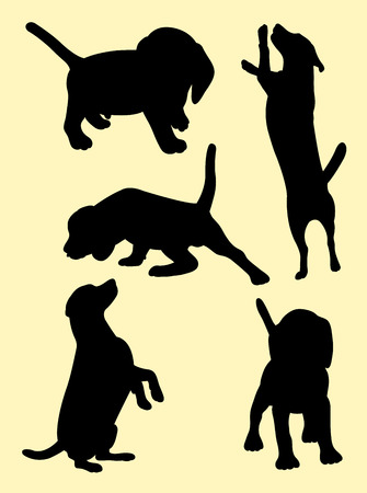 Beagle dog animal silhouette 01. Good use for symbol, logo, web icon, mascot, sign, or any design you want.