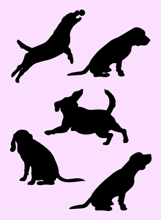 Beagle dog animal silhouette 03. Good use for symbol, logo, web icon, mascot, sign, or any design you want.