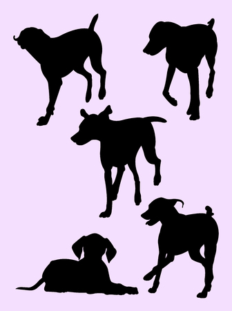 Pointer dog silhouette 02. Good use for symbol, logo, web icon, mascot, sign, or any design you want.