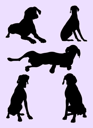 Pointer dog silhouette 03. Good use for symbol, logo, web icon, mascot, sign, or any design you want.