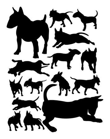 Bull terrier dog animal silhouette. Good use for symbol, logo, web icon, mascot, sign, or any design you want.