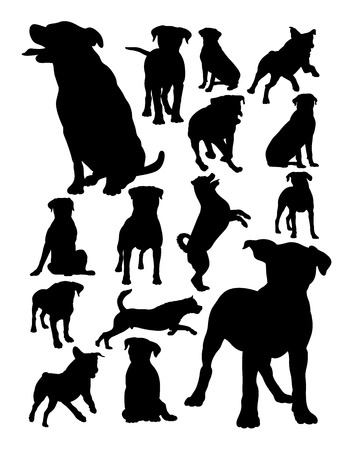 Rottweiler dog animal silhouette. Good use for symbol, logo, web icon, mascot, sign, or any design you want. Иллюстрация