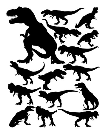Tyrannosaurus rex silhouette. Good use for symbol, logo, web icon, mascot, sign, or any design you want. Иллюстрация