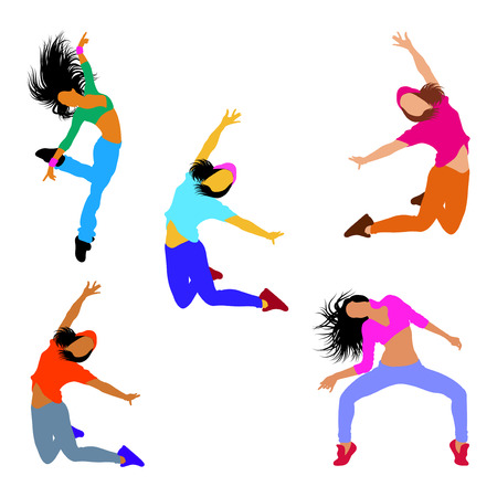 Dancer character. Flat design style vector graphic.