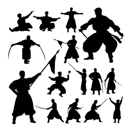 Male theatrical performance silhouettes. Good use for symbol, logo, web icon, mascot, sign, or any design you want. Иллюстрация