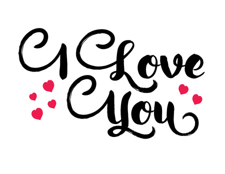 Vector banner with inscription i love you. Иллюстрация