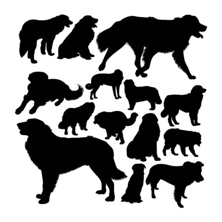 Estrela mountain dog silhouettes. Good use for symbol, logo, web icon, mascot, sign, or any design you want.