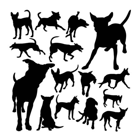 Formosan mountain dog silhouettes. Good use for symbol, logo, web icon, mascot, sign, or any design you want.