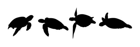 Green sea turtle silhouette 01. Good use for symbol, web icon, mascot, sign, or any design you want.