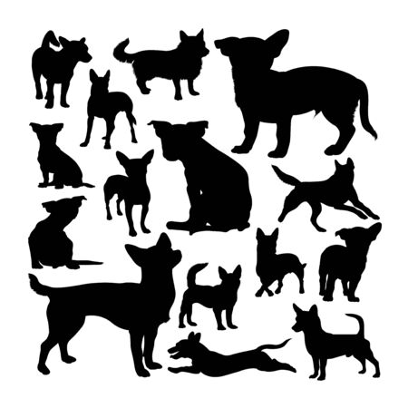 Portuguese podengo dog silhouettes. Good use for symbol, logo, web icon, mascot, sign, or any design you want. Çizim