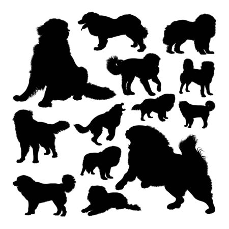 The russian bear dog animal silhouettes. Good use for symbol, logo, web icon, mascot, sign, or any design you want.