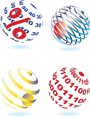 Vector illustration of four different sphere Vector