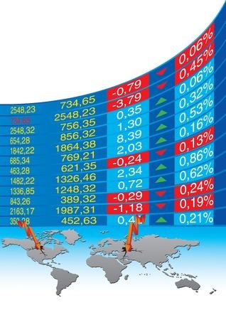 einsturz: Vektor-Illustration der globalen Wirtschaftskrise