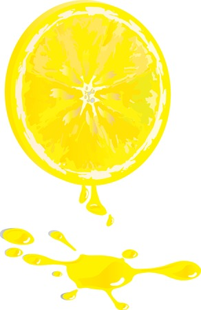 Vector illustration for lemon and juice Vector